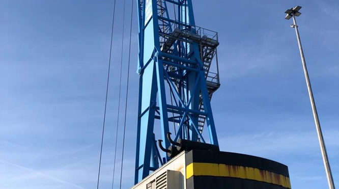 100 TONS MOBILE HARBOUR CRANE FOR SALE - Fantuzzi MHC 150 - YEAR OF MANUFACTURE 2001